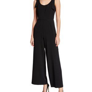 Julia Jordan Black Shoulder Bow Wide Leg Jumpsuit